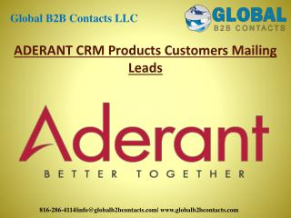 Aderant CRM products customers mailing leads