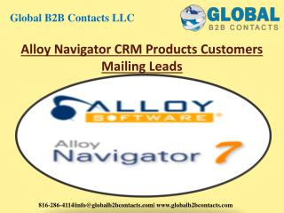 Alloy navigator CRM Products Customer Mailing Leads