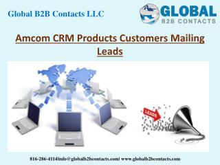 Amcom CRM Product Customers Mailing Leads