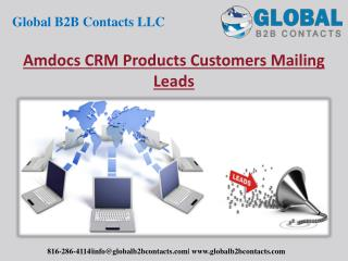 Amdocs CRM product Customers Mailing Leads