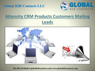 Attensity CRM Product Customers Mailing Leads