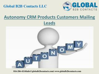 Autonomy CRM Product Customers Mailing Leads