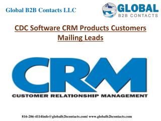 CDC Software CRM Product Customers Mailing Leads