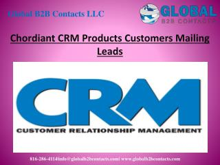 Chordiant CRM Product Customers Mailing Leads