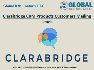 Clarabridge CRM Product Customers Mailing Leads