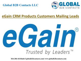 eGain CRM products customers mailing leads