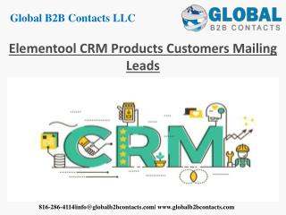 Elementool CRM products customers mailing leads