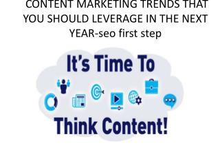 Content marketing trends that you should leverage in the next year - SEO First Step