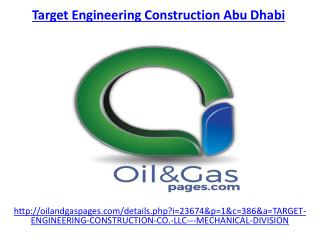 The best target engineering construction company in abu dhabi