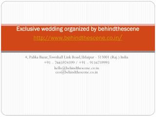 Exclusive wedding organized by behindthescene