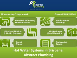 Hot Water Systems in Brisbane: Abstract Plumbing