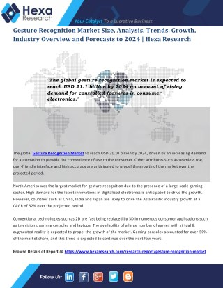 Gesture Recognition Industry Research Report