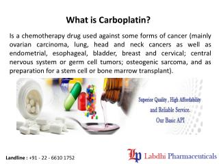 Benefits of Carboplatin Injections