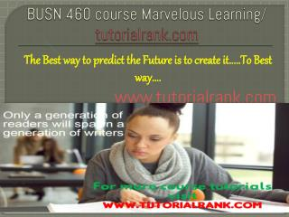 BUSN 460 course Marvelous Learning/tutorilarank.com