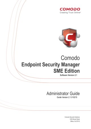 Endpoint Security Manager - Administrator Guide