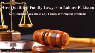Experienced family lawyer in Lahore