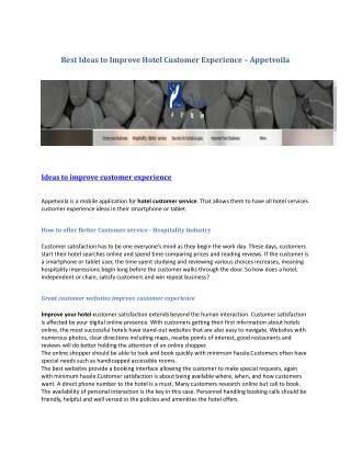ideas to improve customer experience