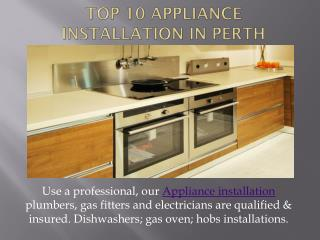 Appliance Installation Perth by Licensed Plumbers | 1800 758 663