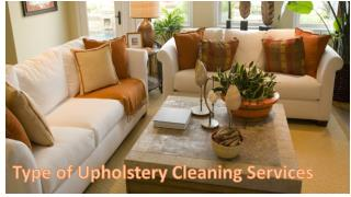 Type of Upholstery Cleaning Services