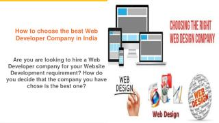 How to choose the best web developer company in india?