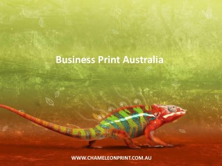 Business Print Australia - Chameleon Print Group