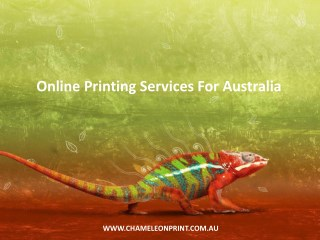 Online Printing Services For Australia