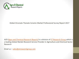 Global Zirconate Titanate Ceramic Market Professional Survey Report 2017