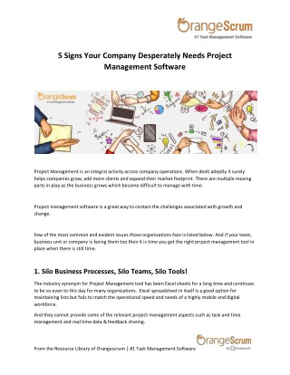 5 Signs Your Company Desperately Needs A Project Management Software