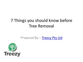 7 Things you should know before Tree Removal