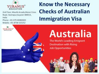 Know the Necessary Checks of Australian Immigration Visa