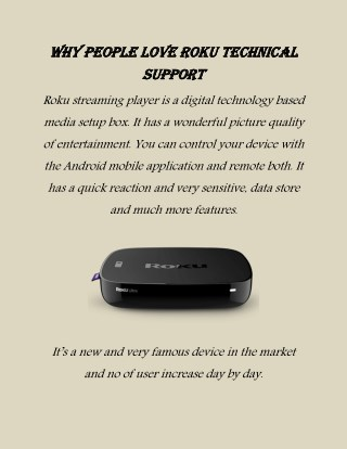 Why People Love Roku Technical Support