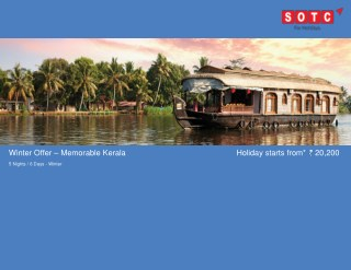 Winter Offer – Memorable Kerala with SOTC Holidays