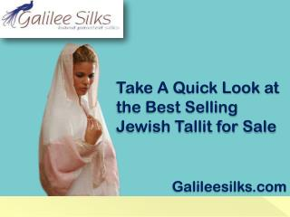 Take A Quick Look at the Best Selling Jewish Tallit for Sale