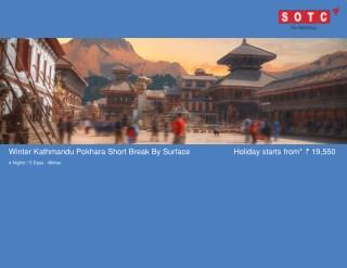 Winter Kathmandu Pokhara Short Break By Surface with SOTC Holidays