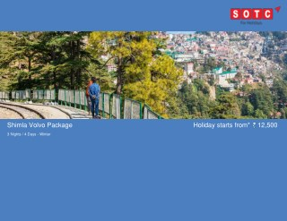 Shimla Volvo Package with SOTC Holidays
