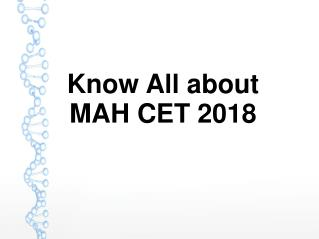 Know all about MAH CET 2018