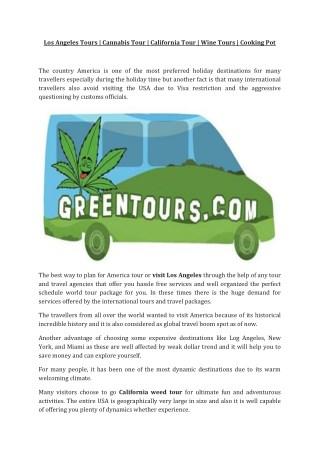 Cannabis Purchase   Greentour   California Tour   Visit LosAngeles
