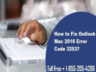 1-855-205-4286  How to Fix Outlook Mac 2016 Error Code 3253?