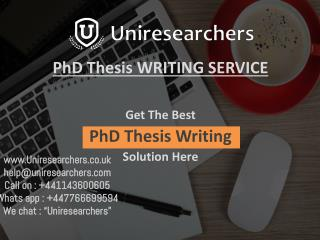 Best PhD THESIS WRITING Services in UK