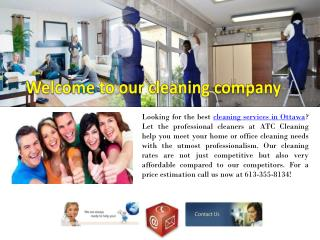 House cleaning services Ottawa