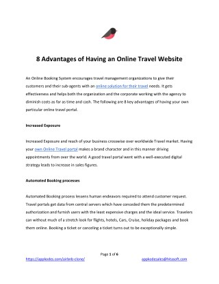 Online Travel Website Advantages | Presented by Airfinch