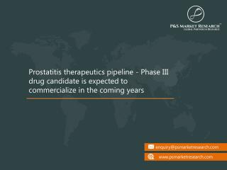 Prostatitis Therapeutics Pipeline Analysis by Stages, Drug Class, Company Profile