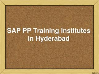 SAP PP Training In Hyderabad, SAP PP Training Institutes in Hyderabad, SAP PP Online Training In Hyderabad – KMRsoft