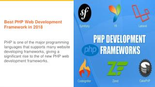 Best PHP Framework used in 2018