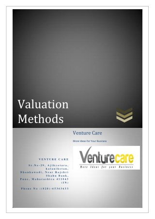 Valuation Methods | Know your company worth- Venture Care