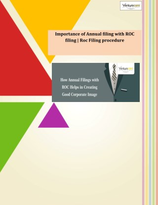 Importance of Annual filing with ROC filing   Roc Filing procedure