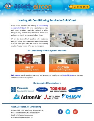 Leading Air Conditioning Service in Gold Coast