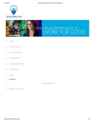 QuickJobs.hk |Apply quick jobs in Hong Kong