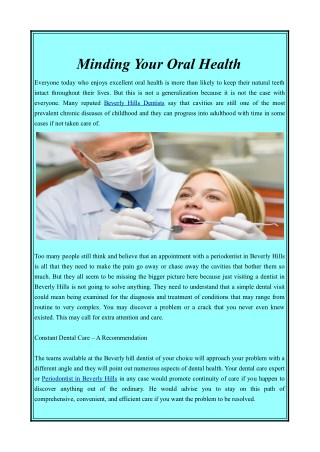 Beverly Hills Dentist | Dental Care for You & Your Family