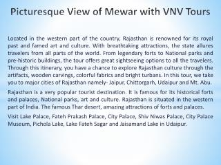 Picturesque View of Mewar with VNV Tours